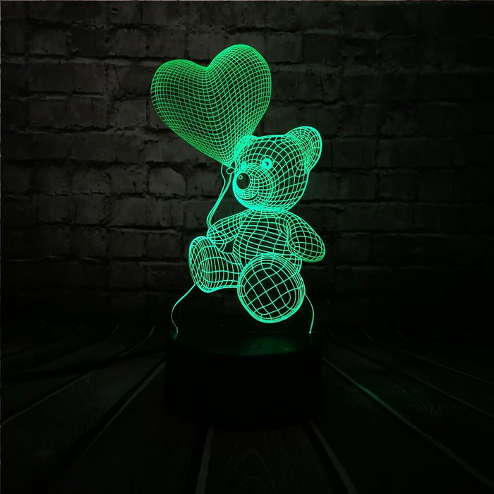 3D Love Bear Lamp