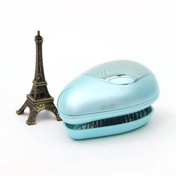 Portable Electric Hair Ionic Brush & Hair Straightener Brush