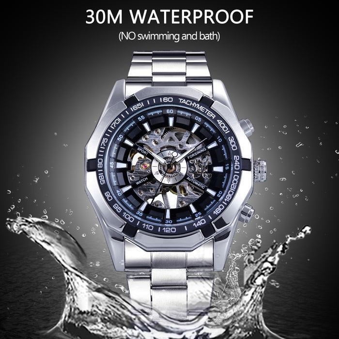 Forsining 2017 Stainless Steel Men's Luxury Watch