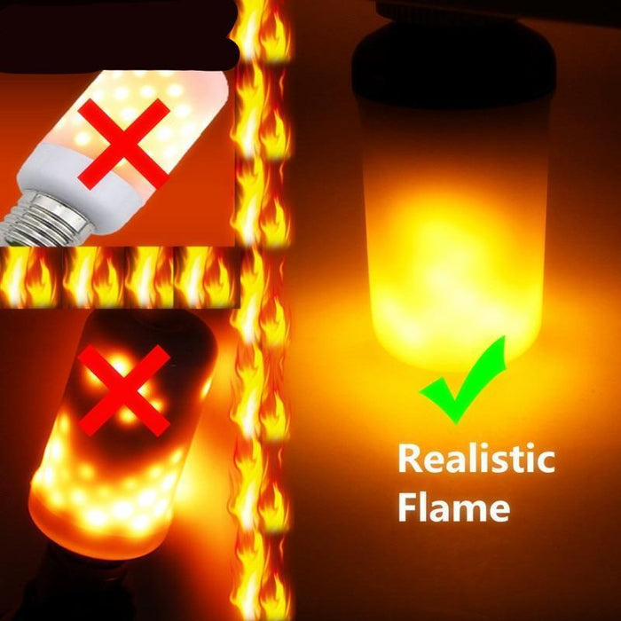 Flickering Flame Effect LED Lamp