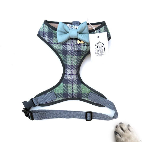 authentic tweed harness with Burgundy bow-tie XL /& Custom L Sir Gareth pocket and bone button \u2013 XS M S Hand-made