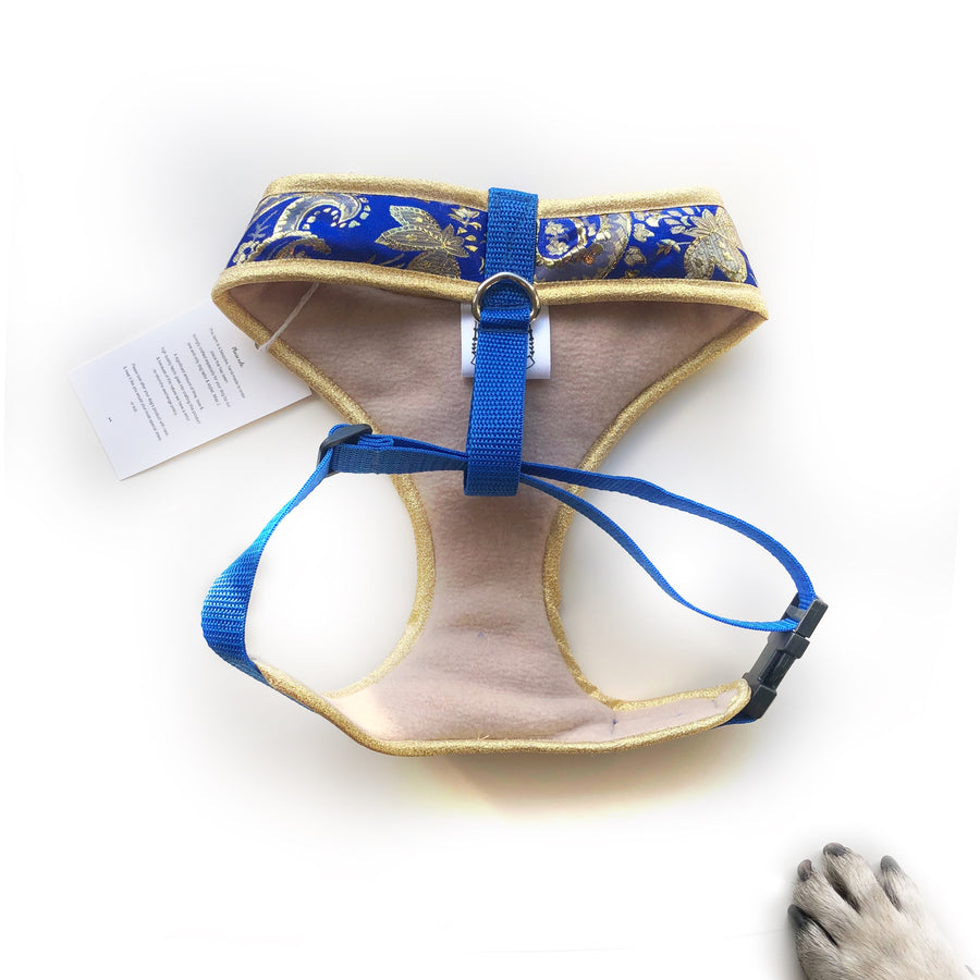 Indian Summer - Royal Blue Bollywood style harness with luxury Indian fabric - XS, S, M, L, XL & Custom