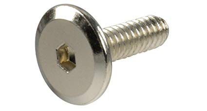 "1/4""-20 Furniture Connector Bolt, Hex Drive, Black Ox or Zinc Finish"