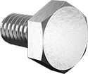 "1/4""-20 x 1/2"" Hex Head Cap Screw 316 Stainless Steel [Pack of 10]"