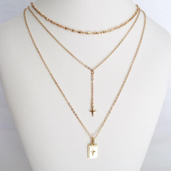 Deagan Triple Layered Necklace