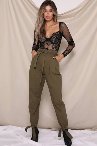 WORK IT PANTS - KHAKI