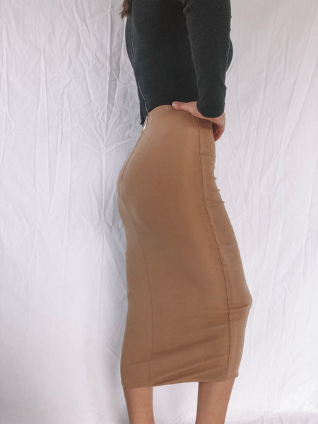 RECKLESS MIDI SKIRT