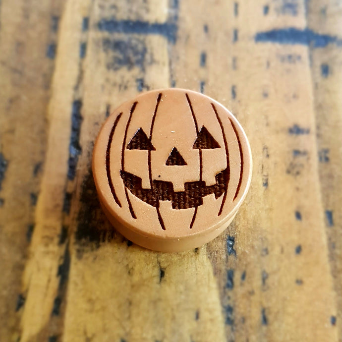 Pumpkin Halloween Special Engraved Wooden Plug