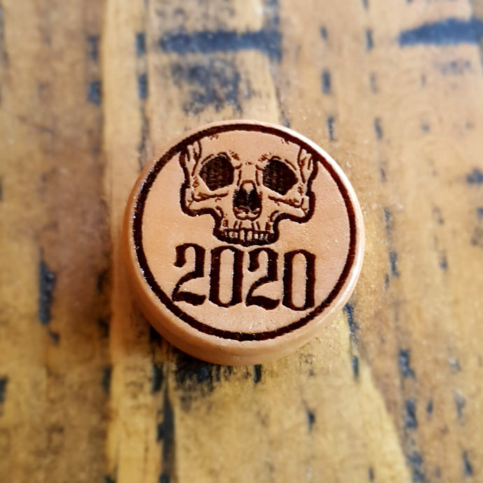 2020 Skull Halloween Special Engraved Wooden Plug