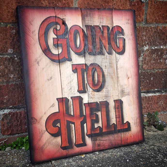 Going to Hell Wall Art