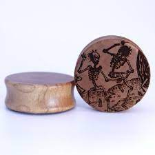 Dance of Death Engraved Wooden Plug