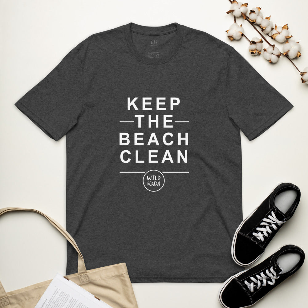 Keep The Beach Clean - Unisex recycled t-shirt