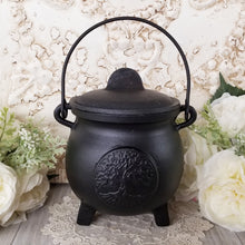 Tree of Life Cast Iron Cauldron Large