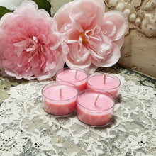 4 Sweetheart Rose Tea Lights
