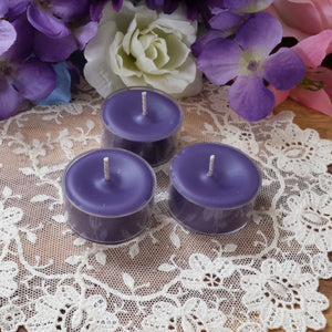 4 Blackened Amethyst soy Tea lights