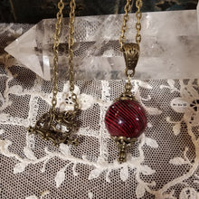 Red Witch's Ball Pendant, Witch's Talisman Necklace, Witch's Amulet