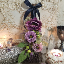 Altar Besom Purple & Black