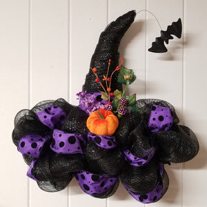 Witch Hat Samhain Door Wreath