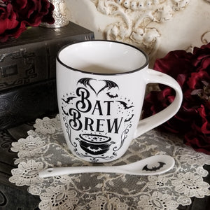 Bat Brew Teacup and Spoon