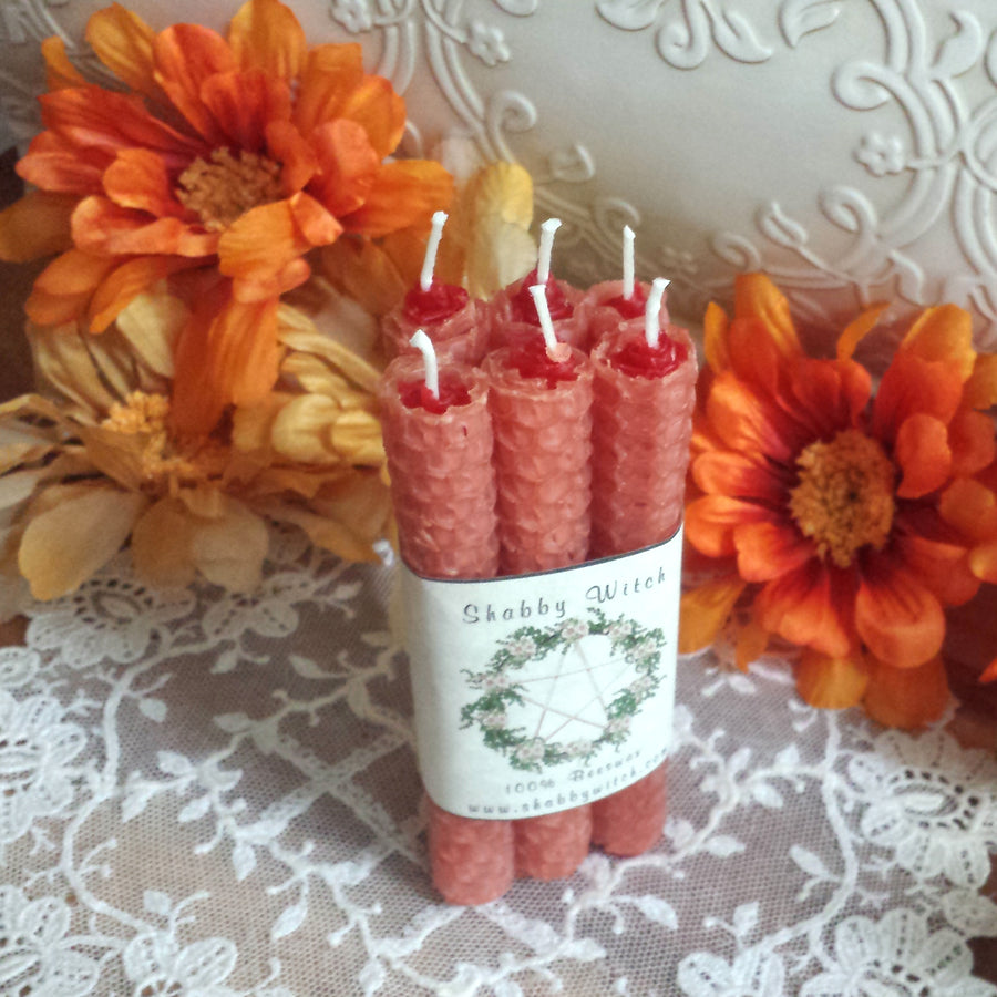 Road Opener 6 Beeswax Intention Candles