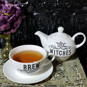 Crescent Moon Witches Brew Teapot