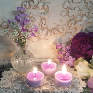 4 Whispering Mist Tea lights