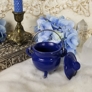 Blue Cast Iron Cauldron