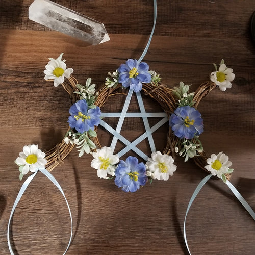 Triple Moon pentacle Wreath