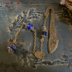 Cobalt Blue Witch's Ball Bookmark
