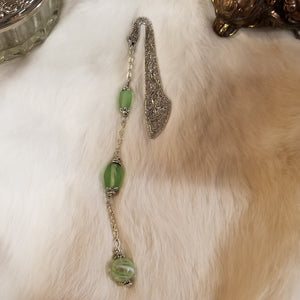 Green Witch's Ball Bookmark