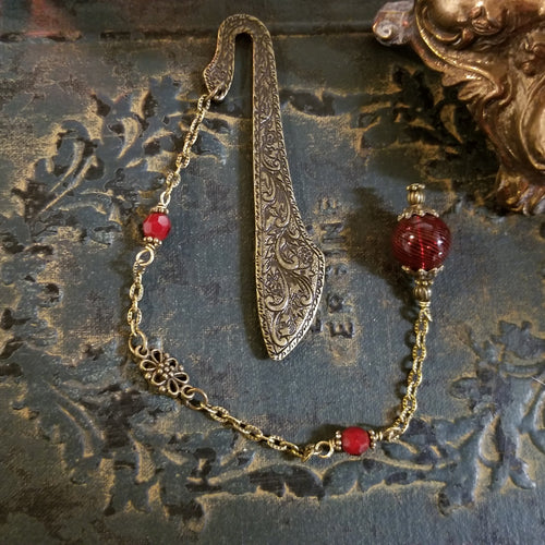 Red Witch's Ball Bookmark