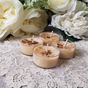 4 Cinnamon Cocoa Tealights Sold out until July 20th
