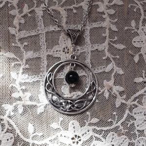Celtic Black Onyx Necklace