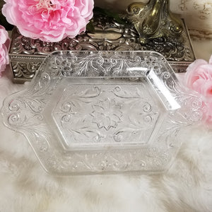 Cut Glass Vintage Tray