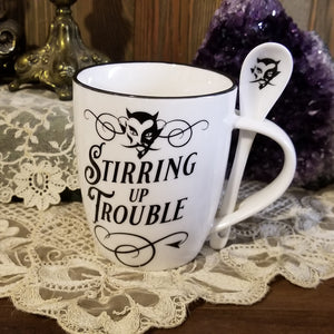 Stirring Up Trouble Cup and Spoon