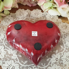 Red Heart Soapstone Tealight Holder