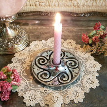 Spiral Mini Spell Candle Holders Set of Two