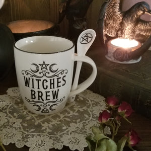 Witches Brew Cup and Spoon