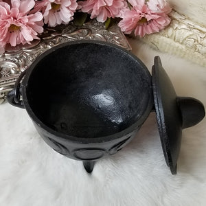 Cast Iron Cauldron Triple Moon