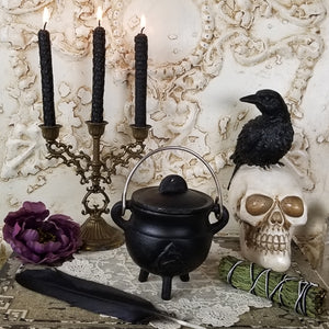 Black Cast Iron Triquetra Cauldron