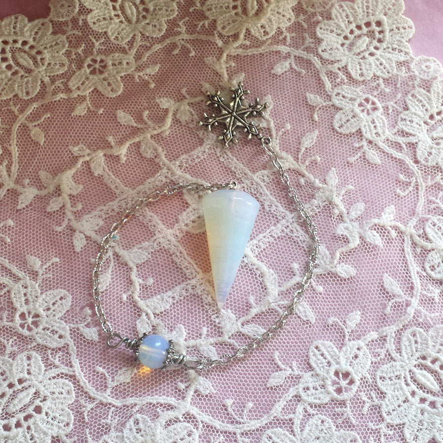Winters Magic Opalite  Pendulum