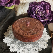 Floral Carved Wooden Bowl