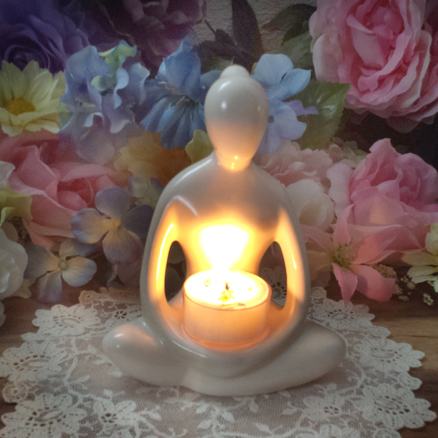 Yoga Woman Tea Light Holder