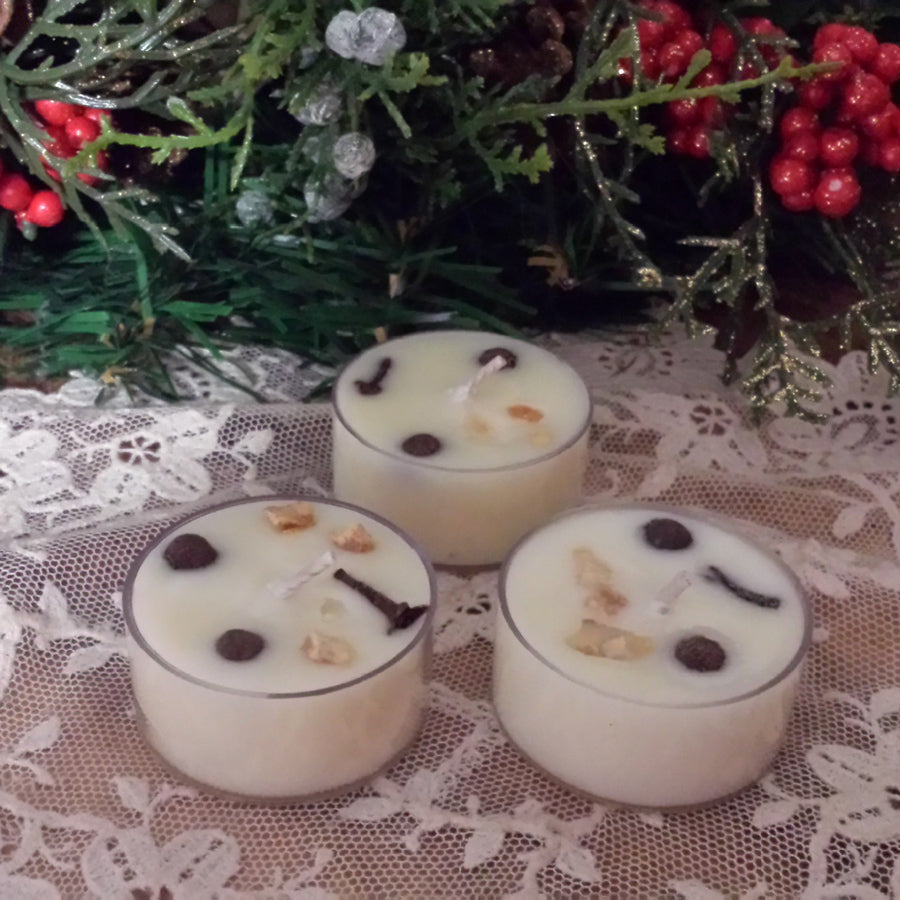 4 Yule Tide Tea lights