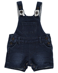 Denim Effect short Overalls