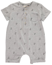 Load image into Gallery viewer, Grey Henry Print Romper
