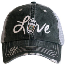 Load image into Gallery viewer, LOVE (coffee or baseball) Trucker Style Hats