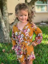 Load image into Gallery viewer, Floral and frills Romper