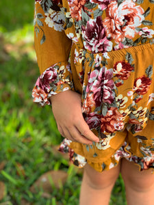 Floral and frills Romper