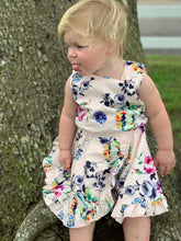 Load image into Gallery viewer, sleeveless floral print dress